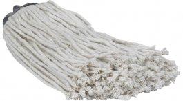 Mop bawełniany do mycia podłóg, 200 gram, biały, długość 275 mm, VIKAN 372018