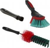 Zestaw szczotek samochodowych do czyszczenia, 3częściowy, czarne, 340 mm, VIKAN TRANSPORT 521052