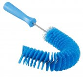 Szczotka do czyszczenia rur z zewnątrz, z uchwytem, średnia, niebieska, Ø55x360 mm, VIKAN 53723