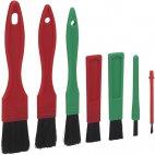 Zestaw szczotek do czyszczenia detali, 7 częściowy, miękkie, 160 mm, VIKAN TRANSPORT 556052