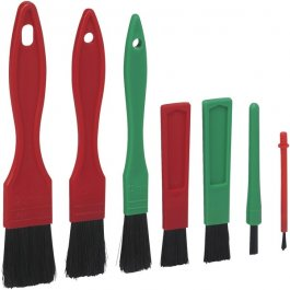 Zestaw szczotek do czyszczenia detali, 7częściowy, miękkie, 160 mm, VIKAN TRANSPORT 556052