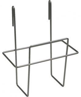 Uchwyt metalowy do wózka do pojemnika na przybory, szary, wysokość 220 mm, VIKAN 582110