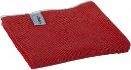 Ściereczka zmikrofibry, ścierka do sprzątania, czerwona, 32x32 cm, VIKAN 691134