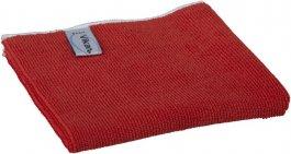 Ściereczka zmikrofibry, ścierka do sprzątania, czerwona, 40x40 cm, VIKAN 691144