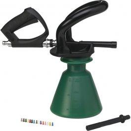 """Pianownica ergonomiczna, pistolet do pianowania zdyszą 1/2"""", zielony, pojemność 2,5 litra, VIKAN 93012"""