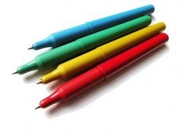 Długopis wykrywalny LIGHT, kolor niebieski