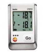 Rejestrator temperatury, 2-kanałowy, z czujnikiem NTC i gniazdem na sondę zewnętrzną, TESTO 175 T2