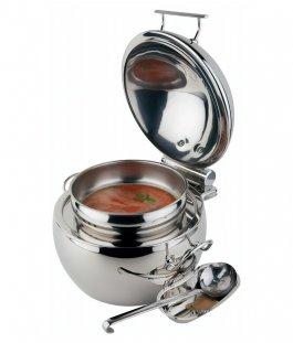 Masywnie Podgrzewacz do zupy GLOBE z nierdzewną podstawą w formie kuli, do AI74