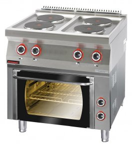 Kuchnia Elektryczna 4 Płytowa Z Piekarnikiem Elektrycznym Gn 11 139 Kw Kromet 700ke 4pe 1