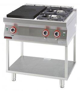 Kuchnia Gazowa 2 Palnikowa Z Płytą Grzewczą Na Podstawie Otwartej 165 Kw Kromet 700kg 2i 400t