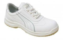 Buty robocze z kompozytowym podnoskiem, wiązane, niskie, rozmiar 39, białe, PUMA Clarity Low S2 SRC