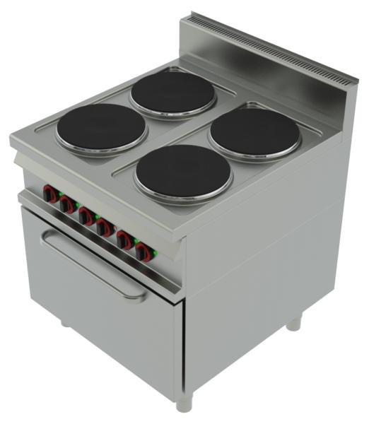 Kuchnie elektryczne z piekarnikiem  Kuchnia elektryczna 4 płytowa CF 90 11 E   -> Kuchnia Elektryczna Z Piekarnikiem Elektrycznym