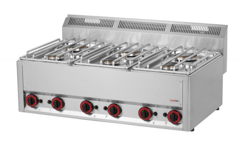 Kuchnie gazowe  Kuchnia gazowa 6 palnikowa SPL 99 G (19,8   -> Kuchnia Gazowa Profesjonalna