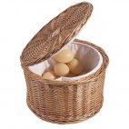 Koszyk z drewna naturalnego na jajka, wierzbowy, okrągły, śr. 26 cm, wys. 17 cm, model 4878/260